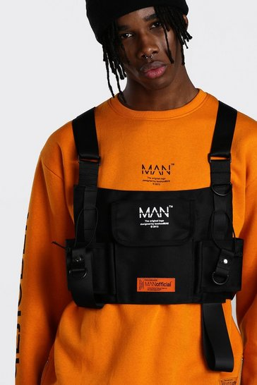 Black MAN Utility Tactical Rig Vest