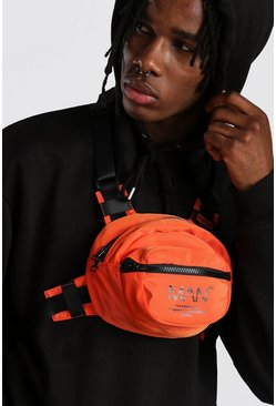 MAN Utility Circular Chest Rig Bag, Orange, HOMMES
