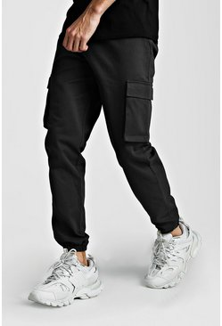 Charcoal Utility Pocket Cargo Jogger Trouser
