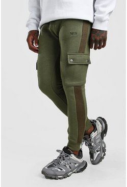 Mens Khaki Original MAN Cargo Jogger With Side Panel