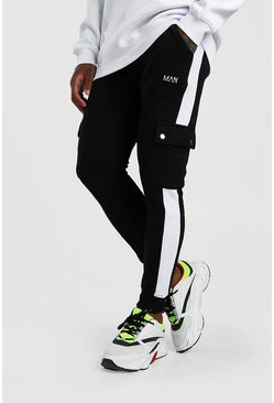 Black Original MAN Cargo Jogger With Side Panel