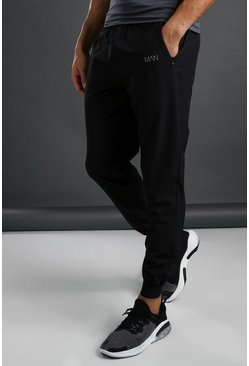 MAN Active Slim Fit Woven Jogger, Black