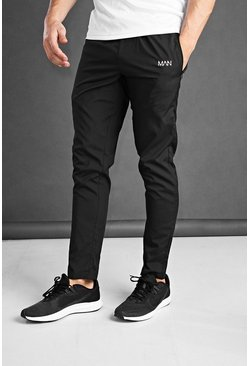 Black MAN Active Skinny Woven Joggers