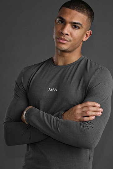 Charcoal MAN Active Muscle Fit Long Sleeve T-Shirt