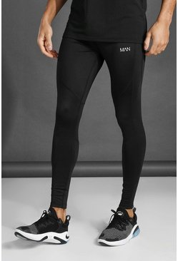 MAN Active Running Joggers, Black