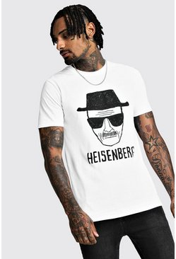 Breaking Bad Heisenberg License T-Shirt, White, МУЖСКОЕ
