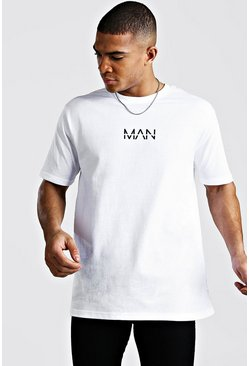 Mens White Oversized Original MAN T-Shirt