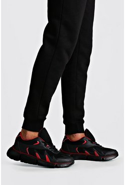 Colour Pop Chunky Trainer, Black