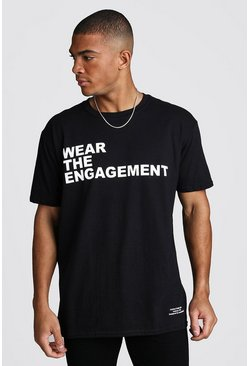 Dadju Charity Oversized We Are Engagement Tee, Black, HOMMES