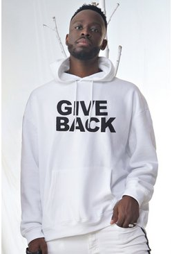Herr White Oversized Dadju Give Back Charity Hoodie