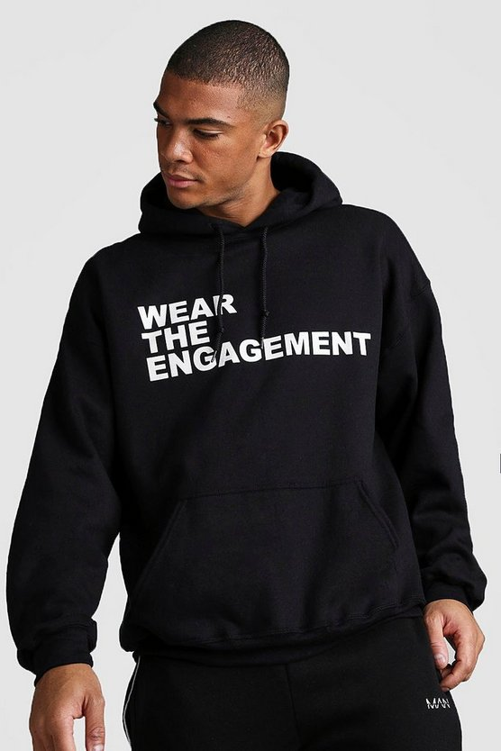 Black Oversized Dadju Wear The Engagement Hoodie