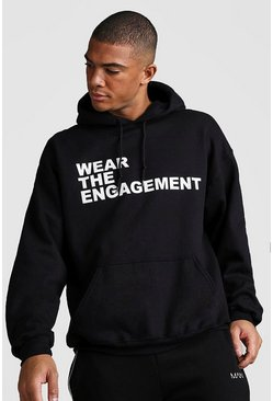 Herr Black Oversized Dadju Wear The Engagement Hoodie