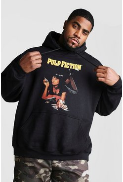 Mens Black Big And Tall Pulp Fiction License Hoodie