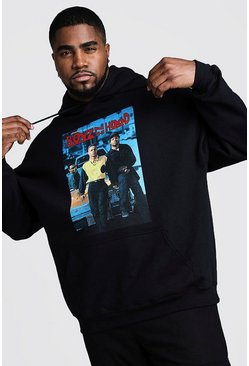 Herr Black Big And Tall Boys N The Hood License Hoodie