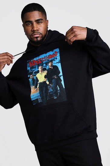 Black Big And Tall Boys N The Hood License Hoodie