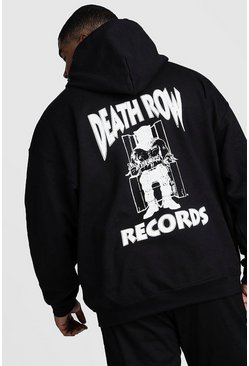 Mens Black Big And Tall Death Row Records License Hoodie