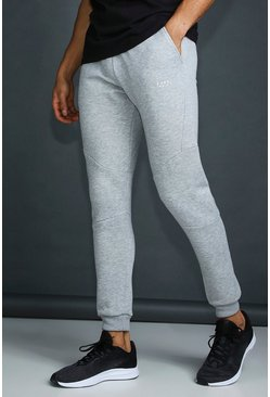 Mens Grey MAN Active Tapered Fit Jogger