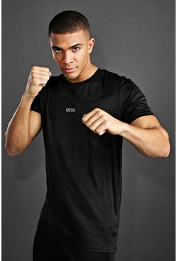 MAN Active Longline T-Shirt, Black