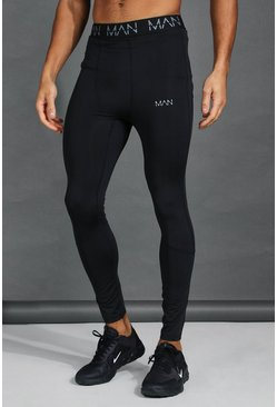 MAN Active Compression Tights, Black
