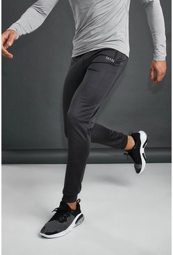 MAN Active Skinny Poly Joggers, Charcoal