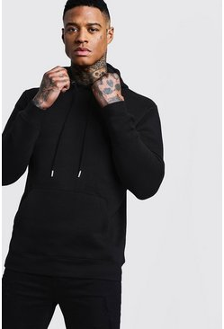 Herr Black Basic Over The Head Hoodie