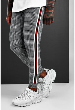 Mens Red MAN Signature Jacquard Cuffed Jogger With Tape