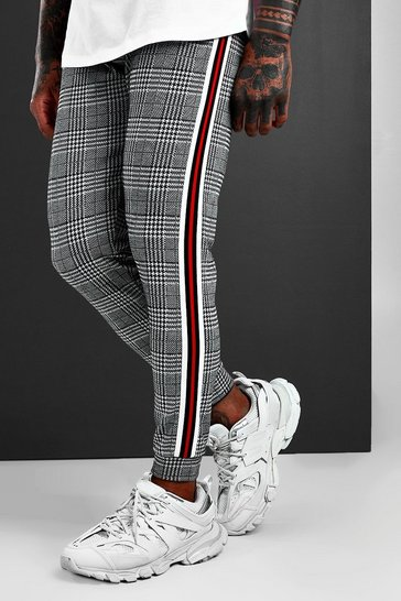 Red MAN Signature Jacquard Cuffed Jogger With Tape