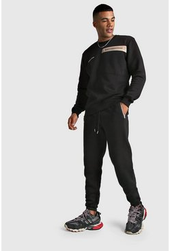 Black MAN Official Utility Sweater Tracksuit