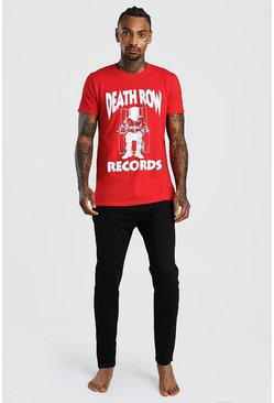 Mens Red Death Row Records License Lounge Set