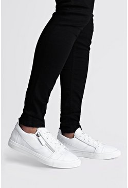 White Man Script Sneakers med dragkedjor