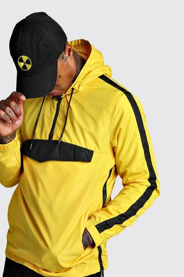 Mens Yellow Overhead Zip Cagule