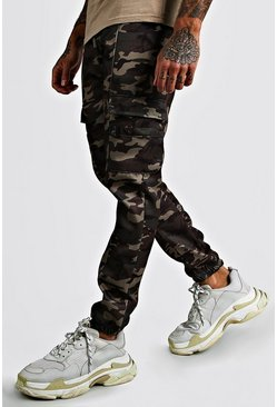Camo Cargo Buckle Detail MAN Cuffed Trouser