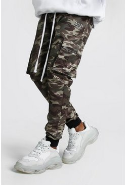 Mens MAN Camo Cotton Cargo Trousers