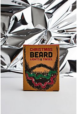 Mens Multi Beard Lights And Tinsel