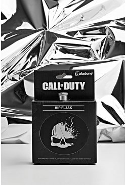 Herr Black Call Of Duty License Hip Flask