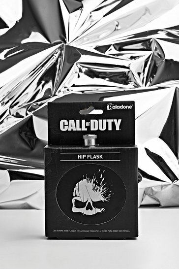 Mens Black Call Of Duty License Hip Flask