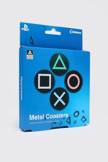 Mens Multi PlayStation License Metal Coasters