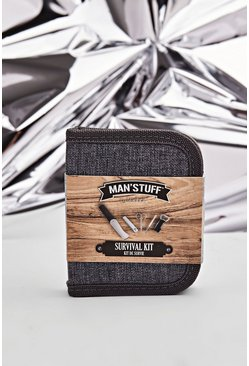 MAN Stuff Survival Kit, Multi, HOMBRE