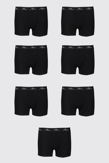 Black Big And Tall 7 Pack MAN Script Boxers