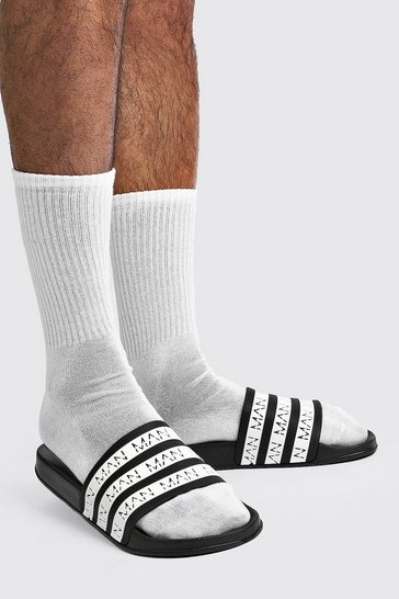 Black MAN Stripe Slider