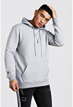 Grey Longline Over The Head Hoodie