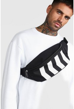 Black Chevron Reflective Section Bumbag