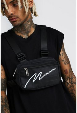 Black MAN Signature Print Chest Rig