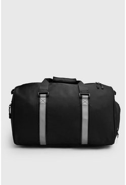 Black Reflective Tape Holdall