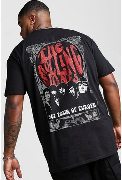 Camiseta de los Rolling Stones 1967 Big And Tall, Negro
