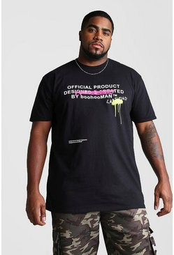 Black Big And Tall Certified Graffiti T-Shirt