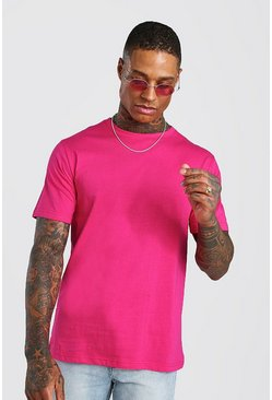 Rose Basic Crew Neck T-Shirt