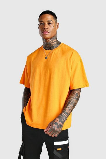 Orange Oversized Crew Neck T-Shirt