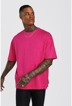 Rose Oversized Crew Neck T-Shirt