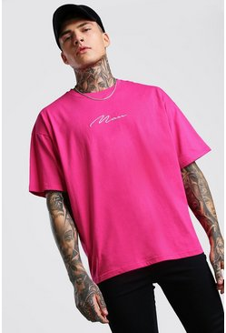 Rose Oversized MAN Signature T-Shirt